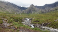 Fairy Pools Isle of Skye - Mountain and River - Steadicam Shot Stock Footage