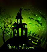 Halloween haunted house Stock Illustration