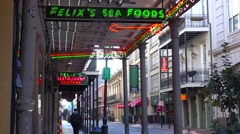 Establishing shot of French Quarter, New Orleans day. Stock Footage