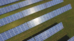 Aerial view of solar panels Stock Footage
