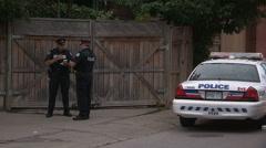 Grandmother shot dead in Toronto murder scene Stock Footage