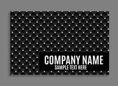 Beautiful Company Business Card Template. Vector Illustration Stock Illustration