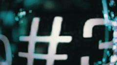 Streaming data and digital grunge - Digital Graffiti 037 HD, 4K Stock Video Stock Footage