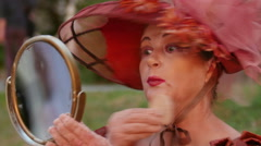 Living statue performer Stock Footage