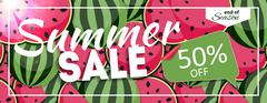 Summer Sale end of Season Banner. Business Discount Card. Vector Illustration Stock Illustration