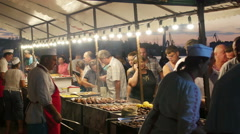 People enjoying food and drink Stock Footage
