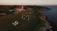 Newport RI Aerial, Castle Hill Inn Stock Footage