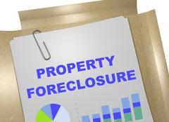 Property Foreclosure concept Piirros
