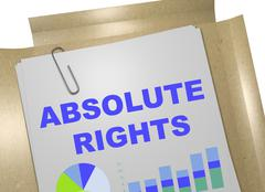 Absolute Rights concept Stock Illustration