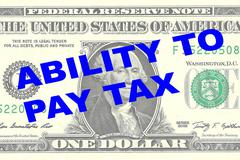Ability to Pay Tax concept Stock Illustration