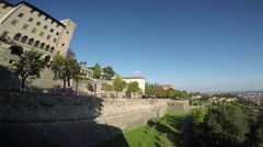 Bergamo - Old city. The venetian and ancient walls. Stock Footage
