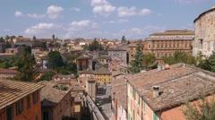 Panorama of Perugia, Umbria, Italy Stock Footage
