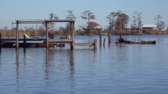 Scenes along the bayou in Louisiana. Stock Footage