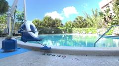 Swimming pool lift Stock Footage