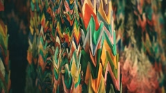 Thousand Origami Cranes at Nanzoin buddhist temple. Point of view close up. Stock Footage