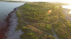 Newport RI Aerial, Sachuest Point Stock Footage