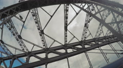 Bolsheokhtinsky Iron Bridge Stock Footage