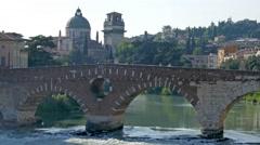 Verona - Ponte Pietra Stock Footage