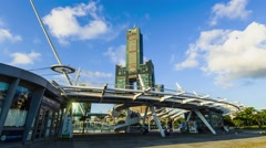 KAOHSIUNG, TAIWAN, 11 JULY 2015: Southern located in Taiwan, is a port city, Stock Footage