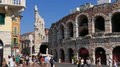 Verona - The Arena, motion view Stock Footage