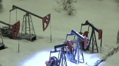 Oil rigs in the snow Stock Footage