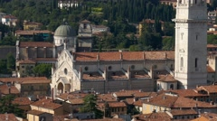 Verona - The Cathedral - View from the Lamberti tower Stock Footage