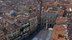 Verona - Piazza delle Erbe Stock Footage