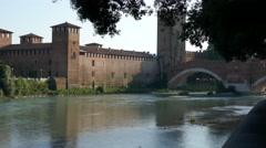 Verona - Castelvecchio Stock Footage