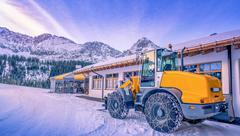Wheel loader winter adapted Stock Photos