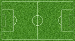 Animation of drawing the lines on the soccer football field on green grass Stock Footage