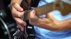 Focus rack playing the guitar Stock Footage
