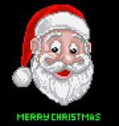 Santa Christmas Pixel Art Stock Illustration