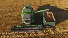Combine on the field. Stock Footage