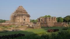 Sun Temple panorama,Konark,India Stock Footage