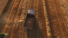 Truck on the field. Stock Footage