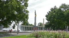 """Heldendenkmal der Roten Armee"" at Schwarzenbergplatz Stock Footage"