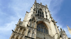 York Minster, England, side view. Stock Footage
