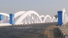 White Napier bridge with traffic,Chennai,India Stock Footage