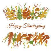 Thanksgiving card template Stock Illustration