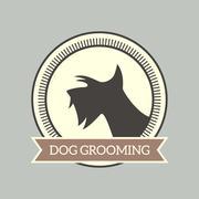 Dog grooming badge Stock Illustration