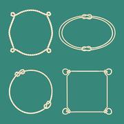 Rope frame set Stock Illustration