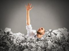 Drown between worksheets Stock Photos