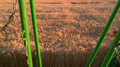 View of field from harvester. Stock Footage