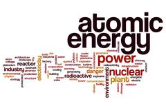 Atomic energy word cloud Stock Illustration