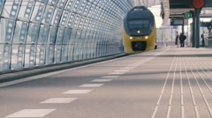 Dutch Railway Station Stock Footage