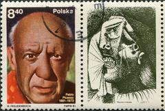 Poland - circa 1981: a stamp Poland circa 1981, dedicated to Pablo Picasso's Stock Photos