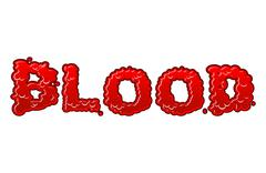 Blood lettring. Red liquid letter. fluid typography. Bloody Font word of scar Stock Illustration