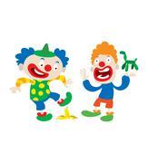 Clown character vector cartoon illustrations Piirros