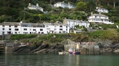 White houses on a rock Stock Footage