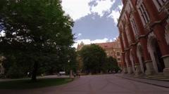 Collegium Novum. Krakow. Poland. Architecture, old houses, streets and Stock Footage
